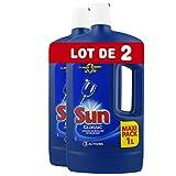 Sun Liquide de Rinçage Lave-Vaisselle Classique (Lot de 2x75 Lavages)