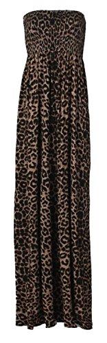 Robe bustier dos nu sans bretelles pour femme Taille Grande taille 48-50 toutes les couleurs - leopard print 1