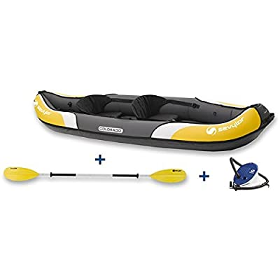 Sevylor Colorado Kayak Kit (2 Person) Adjustable, elevated seats move to fit you and let you sit higher for easier paddling by Sevylor