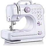 Sewing machine-12 Stitch Patterns Foot Pedal Double Speed Control Sewing Machine with Replaceable