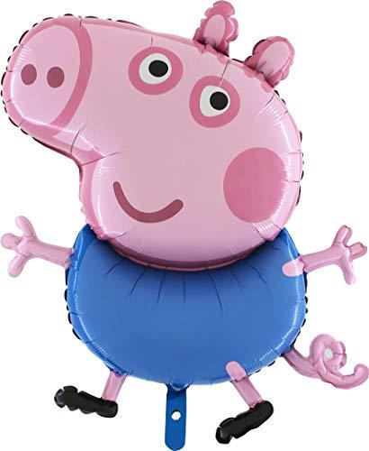 esen-Jumbo-Größe Peppa Pig Zeichen -Peppa oder George-Folienballon - Kinder Party Ballons (George Pig) ()