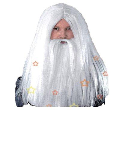 �m, Perücke und Bart-Zauberer Gandalf Dumbledore Fairytale Old Man (Dumbledore Bart Kostüm)