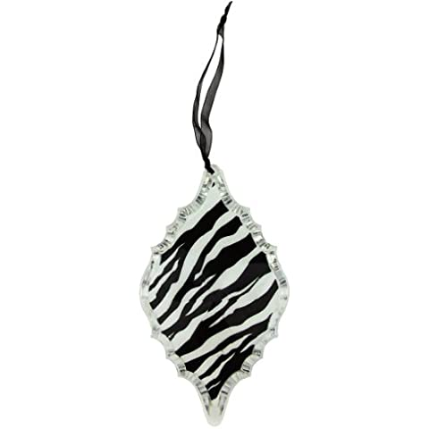 13,97 cm Diva Safari Animal de la cebra de prisma pretectora parte del ornamento de la Navidad