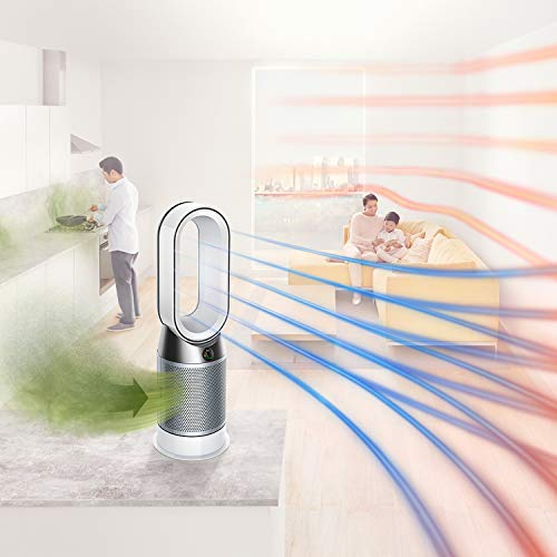 Dyson Pure Hot+Cool Air Purifier (Advanced Technology) with heater and bladeless fan,HP04 (White/Silver)