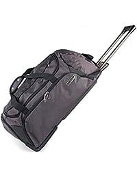 Kappa® Rodillo de maleta de equipaje grande con ruedas, color negro/gris