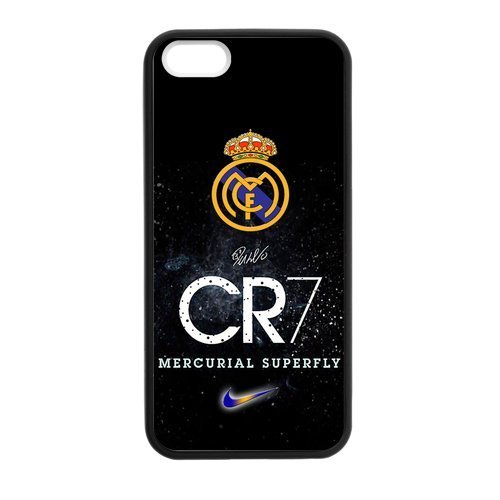 DIY CR7 Football Player Cristiano Ronaldo Custom Case Shell Cover for iPhone 5 5S TPU (Laser Technology)