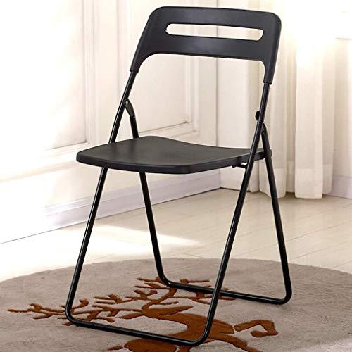 ZLL Home Chair Hocker Klappstuhl-Klappstuhl mit Tragegriff, Freizeitstuhl mit Rückenlehne, Kunststoffsitz und Metallgestell, für den Home Office-Partygebrauch -