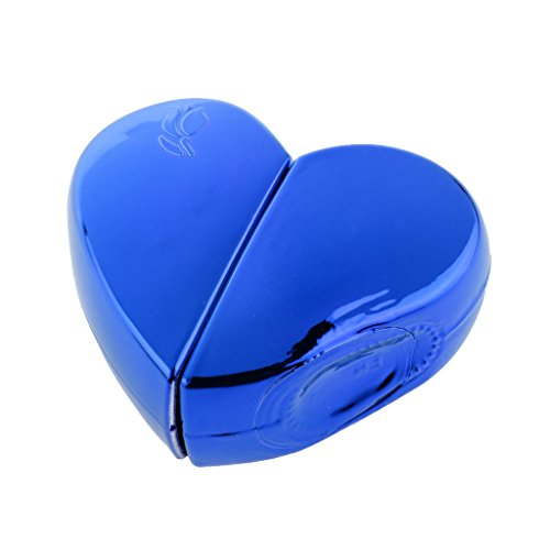 Baoblaze 25ml Heart Shape Perfume Spray Bottle Atomizer Refillable Travel Gift Blue