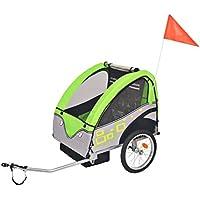 Festnight 30kg Remolque de Bicicleta para Niños,Gris y Verde