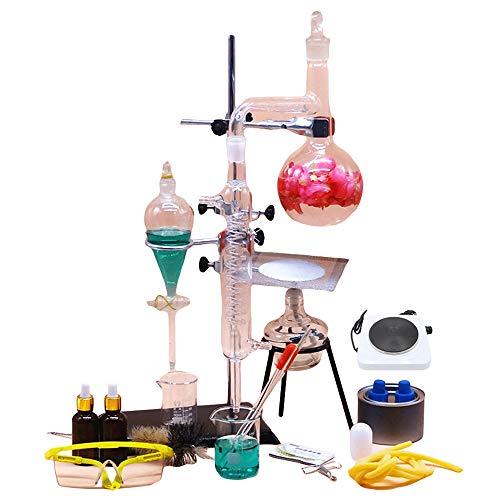 Labormagnetmischer Alles Glas Destilliertes Wasser Gerät Elektrischer Ofen Chemisches Experiment Lehrinstrument Blumenblatt-Reinigungs Wesentliches Öl Verfeinern (Capacity : 500ml, Color : C)