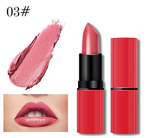 Jaminy Liquid Lip Gloss Lippenstift Matte Wasserdicht Langlebig Long Lasting Moisturizing Lippenstift Lip Gloss Fashionable Colors Long Lasting Lipstick (B)