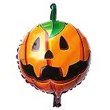 VEMOW Heißer Halloween Party Dekoration kürbis Kopf Dekorative Folienballons(Mehrfarbig, 45cm * 45cm (Nicht aufgeblasen))
