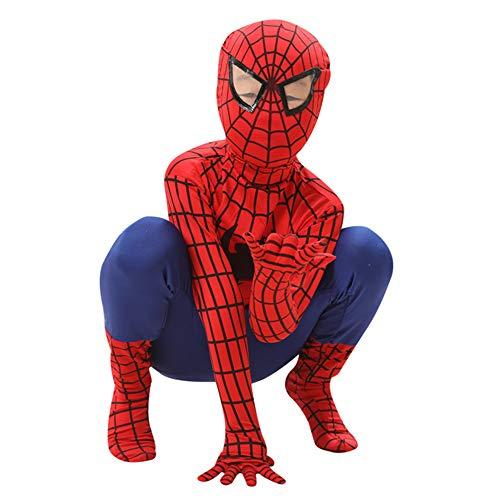 Hope Spiderman Kostüm, Cosplay Siamese Strumpfhose Kinder Erwachsene Thema Party Requisiten Halloween Kleidung Dress Up Zentai Printing Spider Pattern Overall Onesies,D-M(120~140 cm)