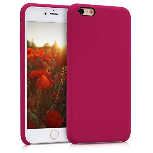 kwmobile Apple iPhone 6 Plus / 6S Plus Hülle - Handyhülle für Apple iPhone 6 Plus / 6S Plus - Handy Case in Fuchsia matt