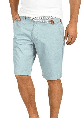 Blend Ragna Herren Chino Shorts Bermuda Kurze Hose Mit Kordel-Gürtel Aus 100% Baumwolle Regular Fit, Größe:M, Farbe:Soft Blue (74641)