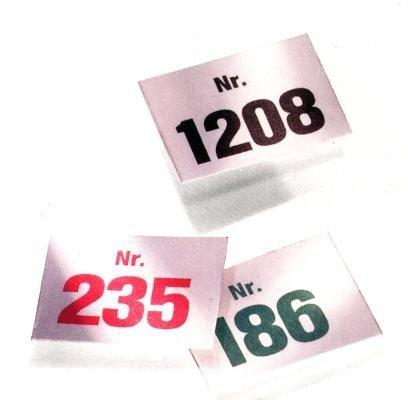 Festartikel Hirschfeld Aufklebenummern Selbstklebende Nummern für die Auszeichnung, Aufklebenummern:501-1000