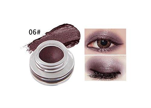 LadyBeauty Wasserdichte Mini Eyeliner Gel Creme mit Pinsel Make-up Kosmetik wasserdicht Eyeliner (Farbe : 6#) (Eye Farbe Gesetzt Liner)