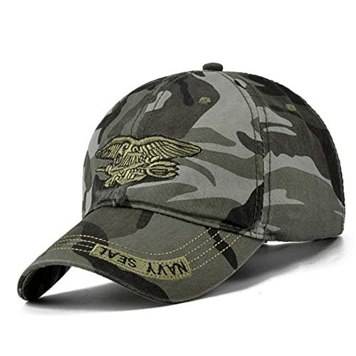 ENGXING Männer Navy Seal Hut Top-Qualität Army Green Caps Jagd Angeln Hut Outdoor Camo Baseball Caps Golf Hüte - Navy Camo Seals Cap