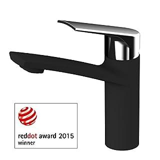 AWA - Sydney - RED DOT DESIGN AWARD 2015 - washbasin single lever tap mixer - Black and Chrome