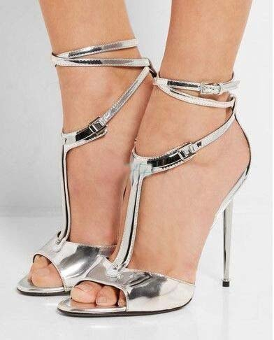 Sandalo radici semplici sandali sandali Roma Ferro silvery
