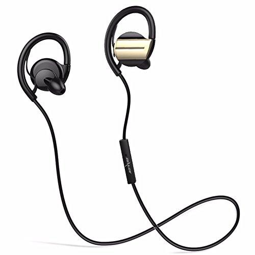 Auriculares Deportivos, ELEGIANT Auriculares Inalámbrico Bluetooth 4.1 in-ear Deporte Hi-Fi Estéreo Auriculares con ATP X Tecnología 6.0 Supresión de ruido CVC anulación integrado Micrófono Manos Libres 7 horas para iOS Iphone 6S 6S Plus 7 7S y Android Móviles Oro Negro