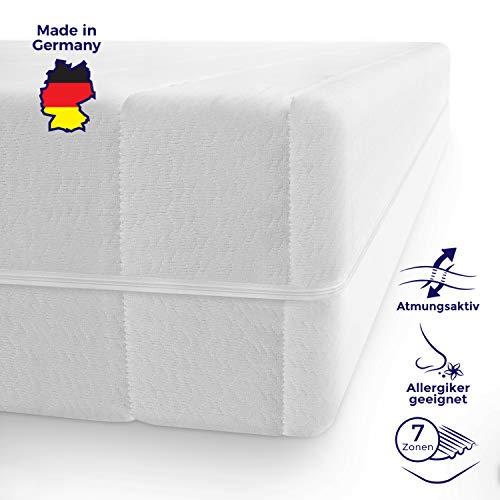 Schlafzimmer-möbel-outlet (Mister Sandman schadstofffreie 7-Zonen-Matratze für gesunden Schlaf - Kaltschaummatratze mit Liegezonen und pflegeleichtem Matratzenbezug, H2&H3, Höhe 15cm (90 x 200 cm, Doppeltuchbezug))