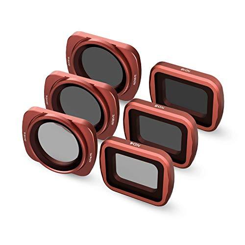 Skyreat Kamera Objektiv ND Filtersatz 6-Pack (ND4, ND8, ND16, ND4PL, ND8PL, ND16PL) Kompatibel mit der DJI Osmo Pocket Gimbal Kamera Zubehör