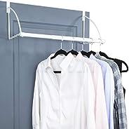 Over The Door Closet Valet- Over The Door Clothes Organizer Rack and Door Hanger for Clothing or Towel, Home a