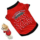 S : Oyedens Puppy Vest T Shirt Small Dog Cat Pet Clothes Apparel (S)