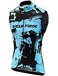 Burningbikewear UGLYFROG Wear Ciclismo Hombre Bicycle Maillots Sin Mangas Primavera Vest Transpirable Secado Rápido Cycling Top