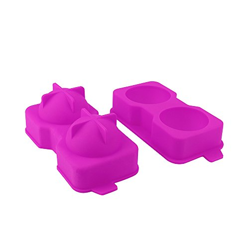 DIY Silikon Eiswürfelform,Rifuli® Ice Balls Maker Runde Kugel Tablett Mold Würfel Whiskey Ball Cocktails Silikon Eiswuerfel Mit Deckel Eisformen(LFGB Zertifiziert)
