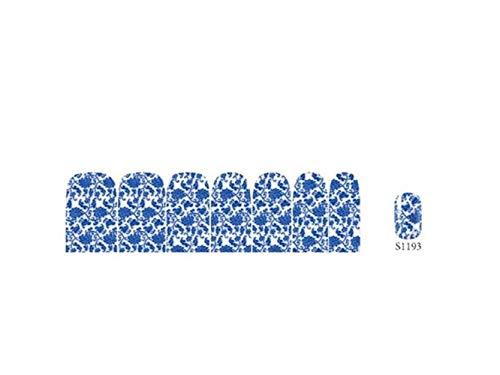 korationen Halloween Nail Art Dekorationen Nagel Aufkleber DIY Tipps Nägel Accessoires Wasser Decals (wie Gezeigt S1187) Requisiten (Farbe : As Shown S1193, Größe : 90x126mm) ()