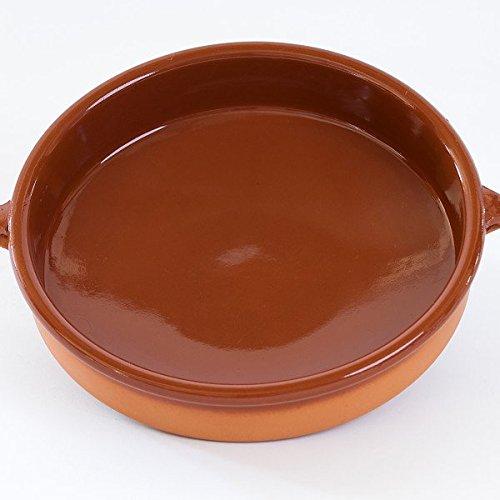 Plat en terre cuite rustic Cassole Diam. 30 cm - Haut. 8 cm - 8 à 10 pers.