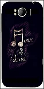 Snoogg Music Is My Life Designer Protective Back Case Cover For HTC Sensation Xl