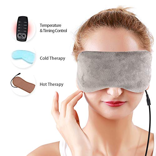 USB Heated Eye Mask Sleeping Eye...