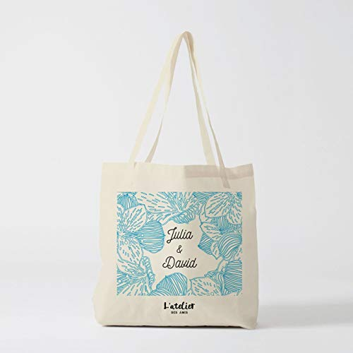 Tote Bag Hochzeit Personalisierbare Tasche in Baumwolle Canvas Tasche zu Tasche Hochzeit Wickeltasche Tote Bag -