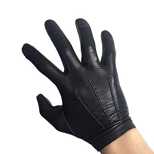 Agelec Ziegenleder Mitten Herren Fahren Dünne Vollfingerhandschuhe Touchscreen Lederhandschuhe Fingerhandschuhe (Größe : M) -
