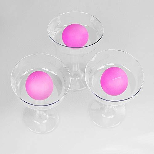 Monsterzeug Prosecco Pong Set, Party Trinkspiel, JGA Spiel für Frauen, Partyspiel Erwachsene mit Sekt, Drinking Game, 12 Gläser aus bruchfestem Kunststoff, 3 Bälle