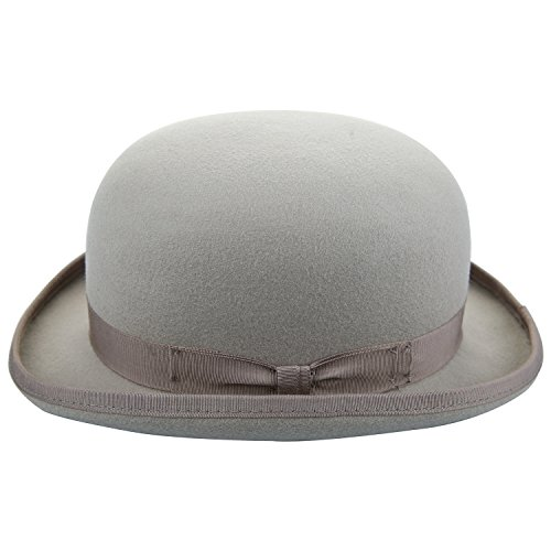 assische Runde Top Hard Roll Up Birm 100% Wollfilz Hut (Hut Bowler)