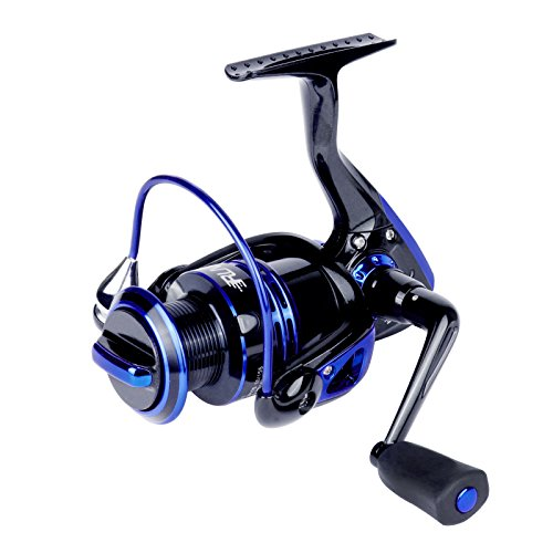 runcl Spinning Carrete Keen y # x2160; 3000, carrete de pesca con izquierda/derecha intercambiable mango 5.2: 1relación de engranajes 6+ 1rodamientos de bolas para agua dulce agua salada pesca en barco, KEEN II-4000 Blue