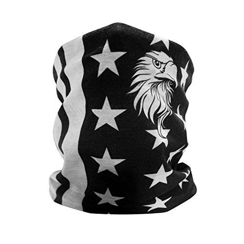 GAMPRO American Flag Adler Muster Outdoor-Gesichtsmaske, Winddicht Motorrad -