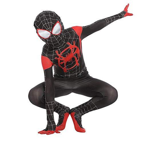 ZYFDFZ Spiderman Cosplay Kostüm Halloween Jumpsuit Strumpfhose Crazy Party Item Maske ( Color : Black , Size : XL ) (Party Stadt Superhelden Kostüm Für Damen)