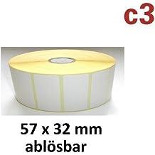 57x 32mm térmica etiquetas ablös Bar rollo con 2100etiquetas Zebra, Citizen, Intermec, Tec