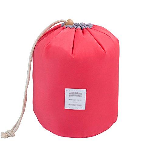 Trousse de toilette de voyage pour cosmétiques - Sac de rangement avec cordon, housse de transport avec petite pochette rouge Red taille unique