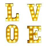 F Fityle Love LED Buchstaben Alphabet Leuchtschild Beleuchtung Lichter
