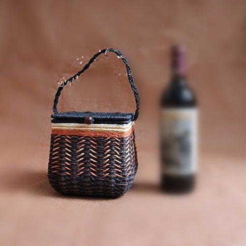 Preisvergleich Produktbild Vintage Hand Woven Black Tea, Storage Storage, Gift Boxes, dekorative Ornamente, 17 * 17 * 16 cm, ein paar Pfund.