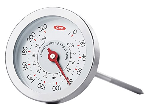 OXO - Good Grips Thermometer, Edelstahl, silber/weiß (Taylor Thermometer)