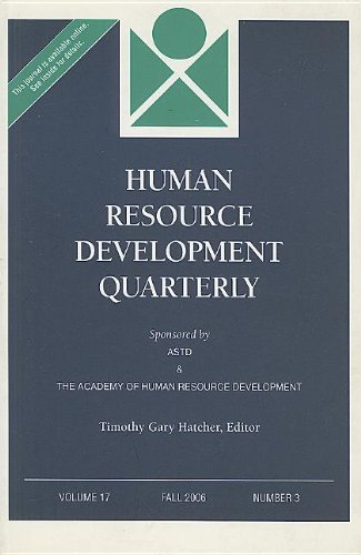 Human Resource Development Quarterly, Volume 17, Number 3 (J-b Hrdq Single Issue Human Resource Development Qarterly, Band 68)