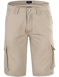 JINSHI Hombre Pantalones Cortos Cargo de Algodón ZhciBd