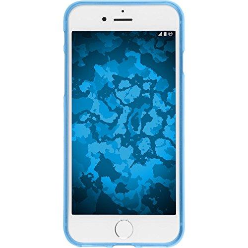 PhoneNatic Case für Apple iPhone 7 Hülle Silikon hellblau Iced Cover iPhone 7 Tasche + 2 Schutzfolien Hellblau
